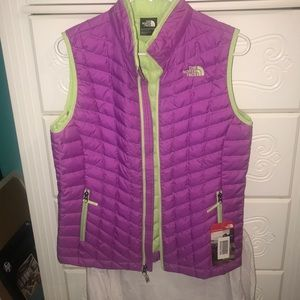 The NorthFace Purple and Green Vest